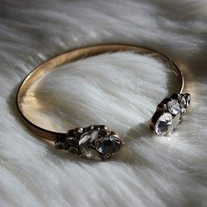 Francesca's glam antique gold bracelet